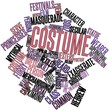 Word cloud for Costume
