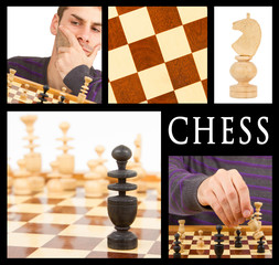 Compilation of game of chess, series of five