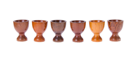 Set of 6 different egg cups