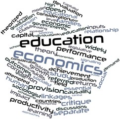 Word cloud for Education economics