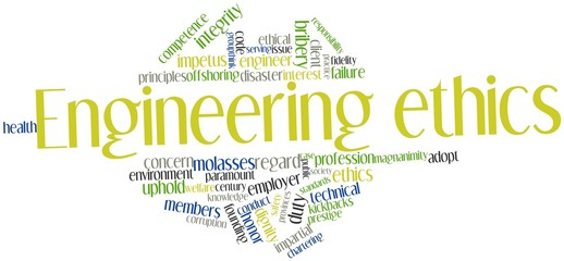 Word cloud for Engineering ethics