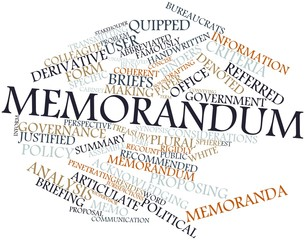 Word cloud for Memorandum