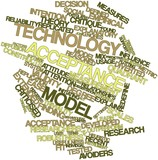 Word cloud for Technology acceptance model