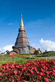 Napametaneedol pagoda on top of mountain, Thailand