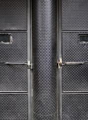 Black textured door
