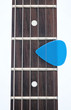 electric guitar fingerboard with dot inlay