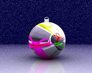 Christmas ball decorated - 3D