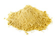 Pile of dry mustard powder