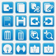 Personal Computer Blue Icon Set