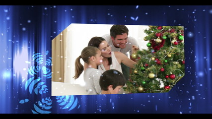 Montage of christmas celebrations