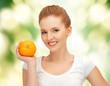 teenage girl with orange