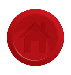 Home red button vector