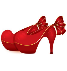 Red shoe pair vector