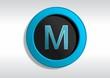 Botão com a Letra M