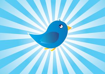 Blue Bird - Tweet Background