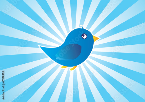 Blue Bird - Tweet Background