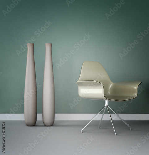 Design Chair in a modern room | Design Interior Architecture