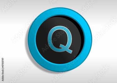 Botão com a Letra Q