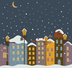 Winter town.
