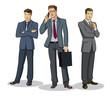 Businessman group standing