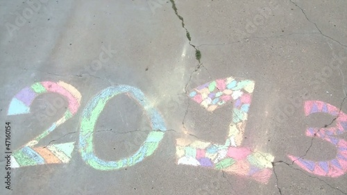 Year 2013 in Colored Chalk