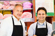 Butchers at shop