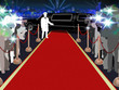 Постер, плакат: Red carpet photographers driver and a luxury car