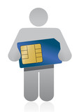 icon holding a sim card