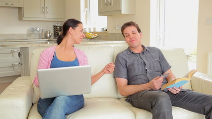 Husband denying credit card to wife online shopping