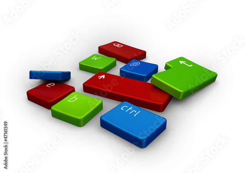 colored keyboard