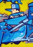 Fototapete Künstler - Backstein - Graffiti