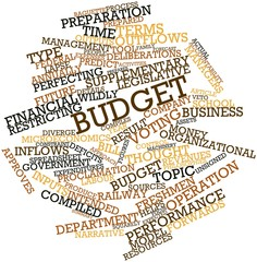 Word cloud for Budget