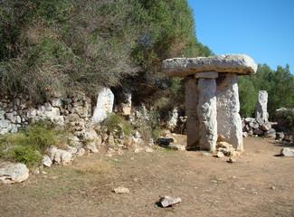 Taula in Torre Trencada, Menorca, Spain