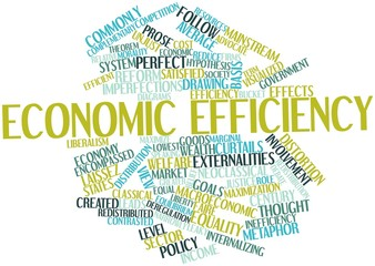 Word cloud for Economic efficiency