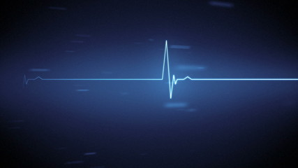 Blue heart monitor line
