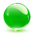 3D crystal sphere green