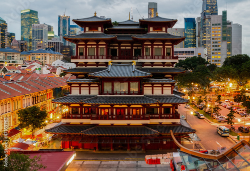 Fotobehang Singapore The Buddha Tooth Relic Temple