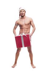 sexy christmas man