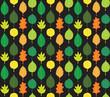 Retro Autumn Leaves Pattern
