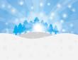Christmas Trees in Snow Winter Scene Illustration