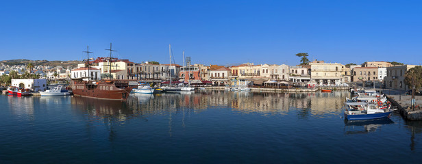 Panoramic image of Rethymno city at Crete island