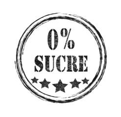 Logo 0% sucre. Sans sucre.