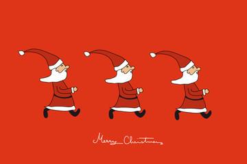 Die Weihnachtsmänner kommen