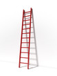 Red ladder near white wall