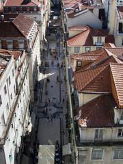 Aerial view of Rua Augusta - Lisbon (Portugal)