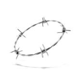 Barbed wire wreath