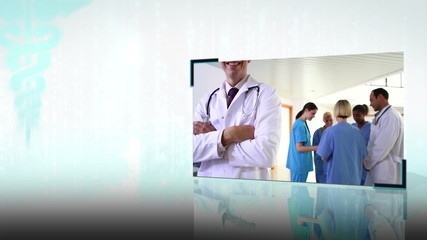 Montage of medical teams