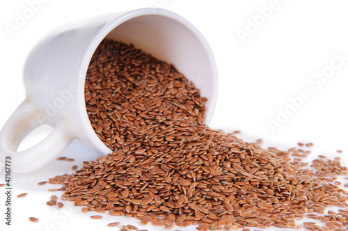 closeup flax seeds