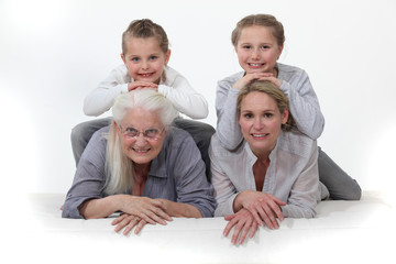 Portrait of different generations
