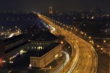 Fototapety W-Z Route (East-West Route) in Warsaw, Poland